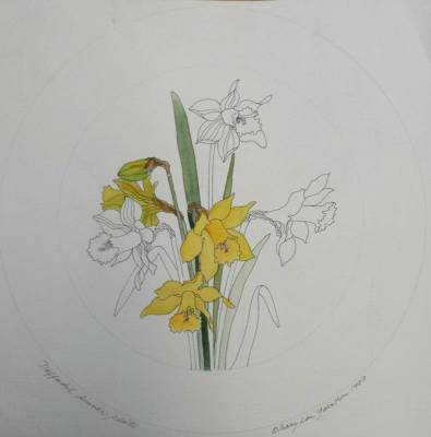 Daffodil plate prototype
